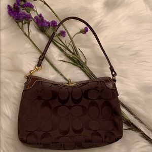 Coach Brown Mini Bag and Wristlet